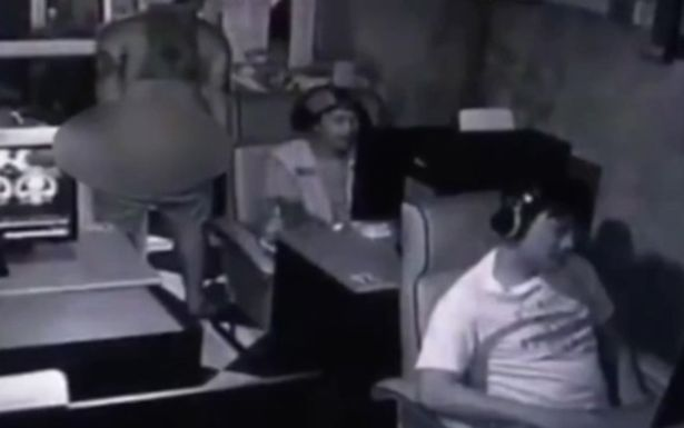 Shop owner clears a room
