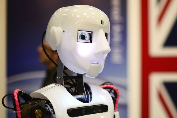 SoftBank Group Corp.'s Pepper the humanoid robot performs during a demonstration at a media briefing in Tokyo, Japan