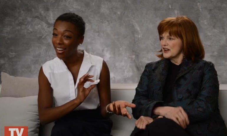 Samira Wiley and Blair Brown