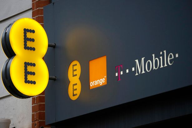 EE mobile phone store
