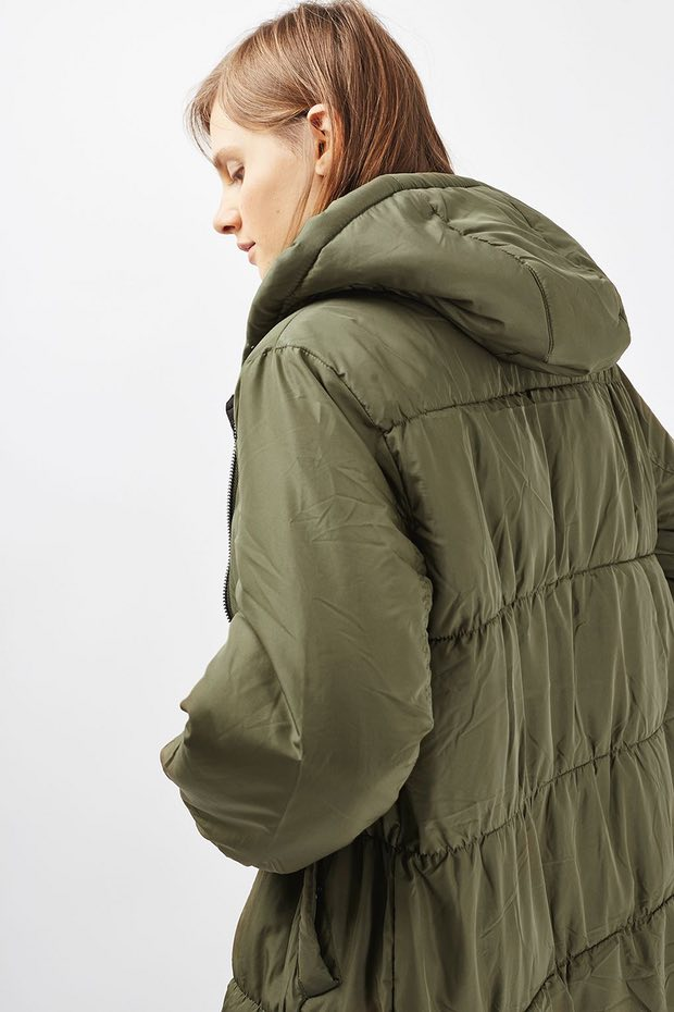 A 'kale' quilted jacket from Topshop
