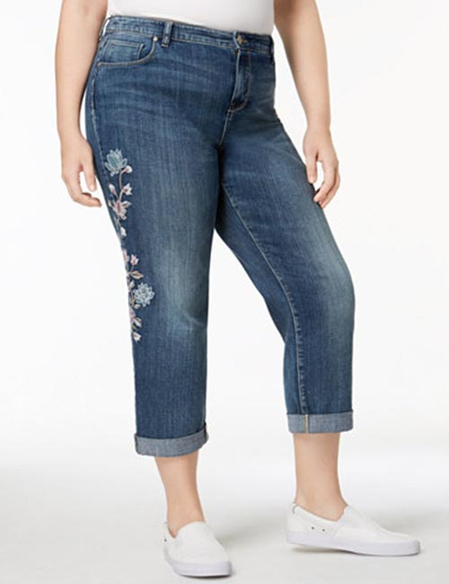1. Boyfriend Jeans For Curvy Women