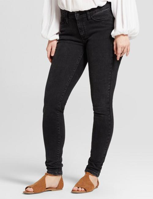 2. Mid-rise Black Jeans For Petite Curvy Women