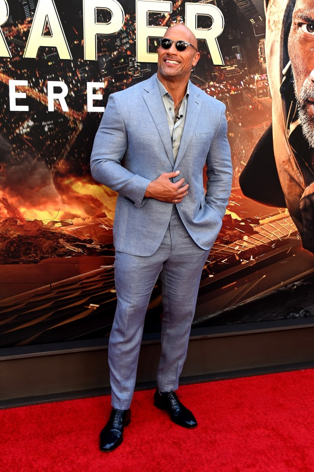 Dwayne Johnson New York Skyscraper Premiere