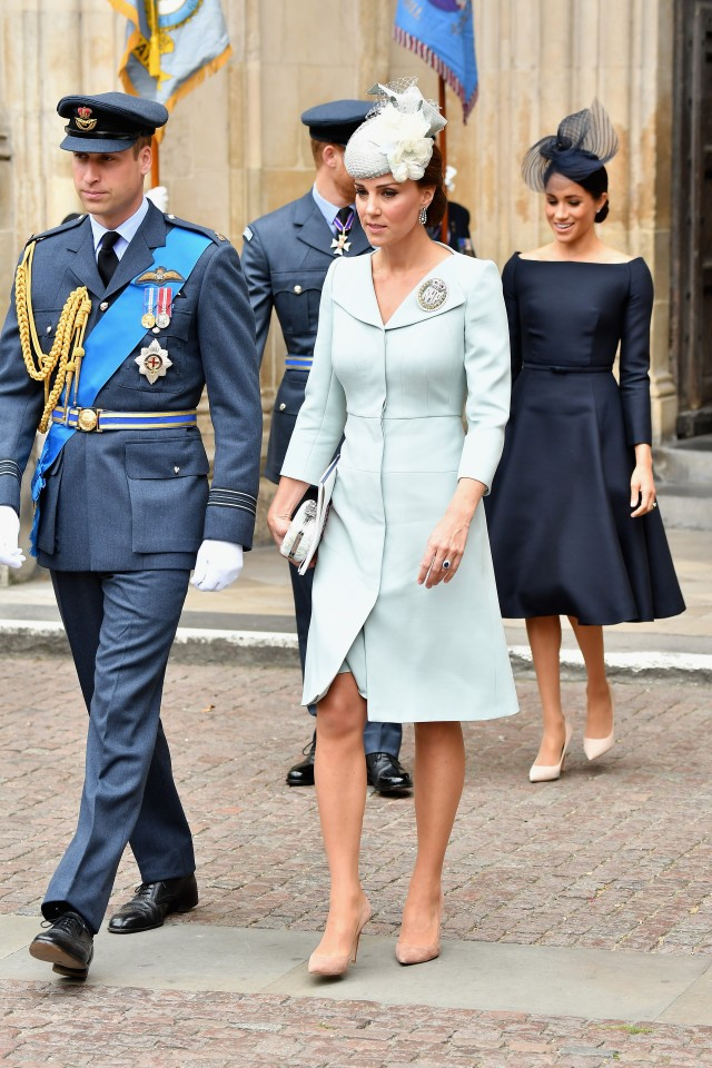 Kate Middleton light blue Alexander McQueen dress