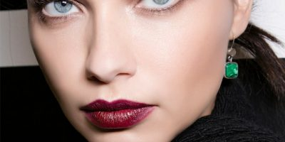 Soft Brows with Burgundy Lips