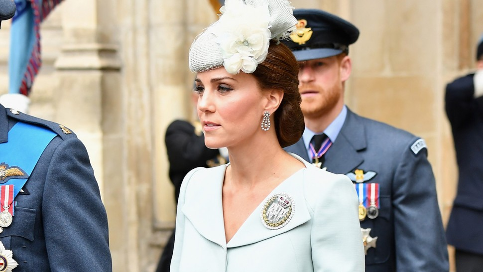 Kate Middleton light blue Alexander McQueen coat dress